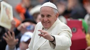 El papa Francisco, enuna audiencia pública del Vaticano.
