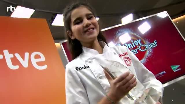 Paula gana la edición 2017 de 'Masterchef junior'.