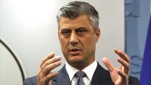 El pirmer ministro de Kosovo, Hashim Thaci.