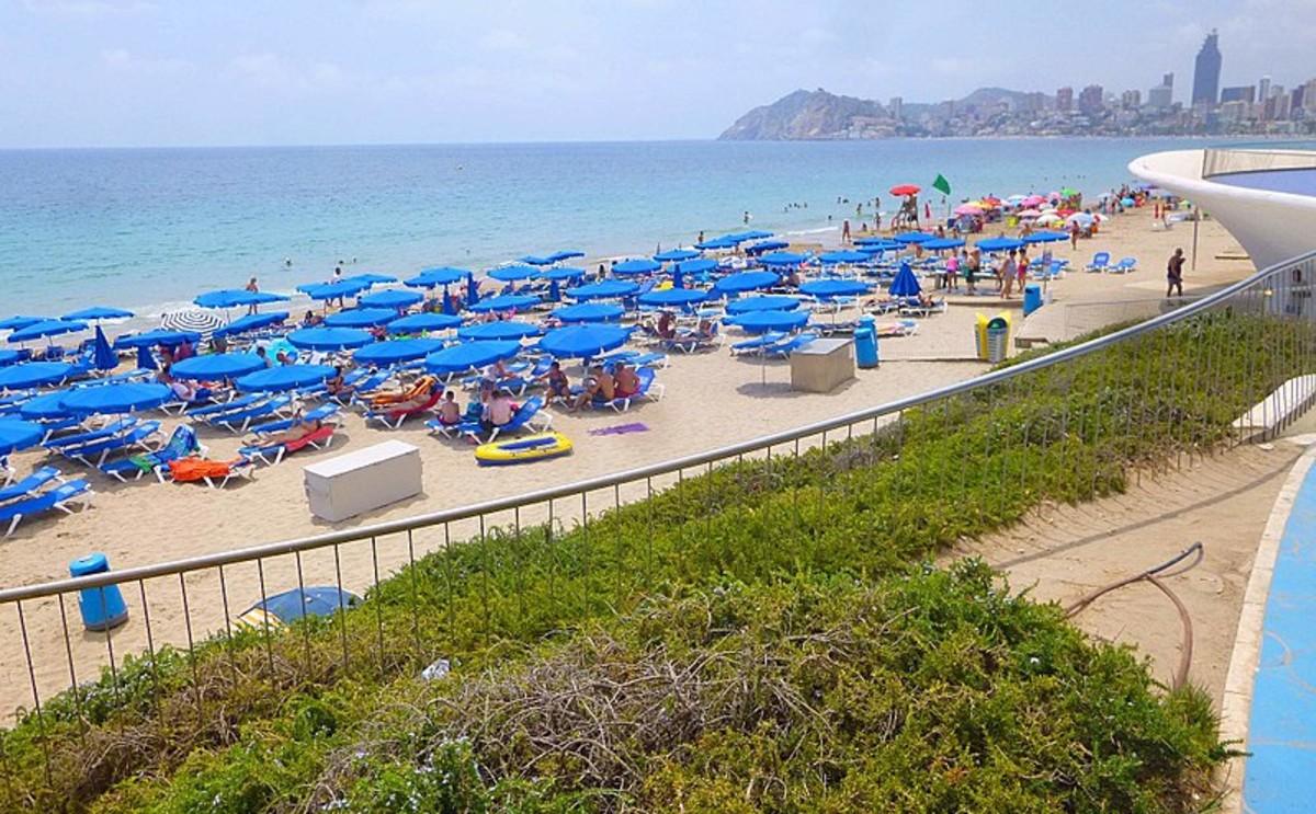 Una playa de Benidorm, en Alicante.
