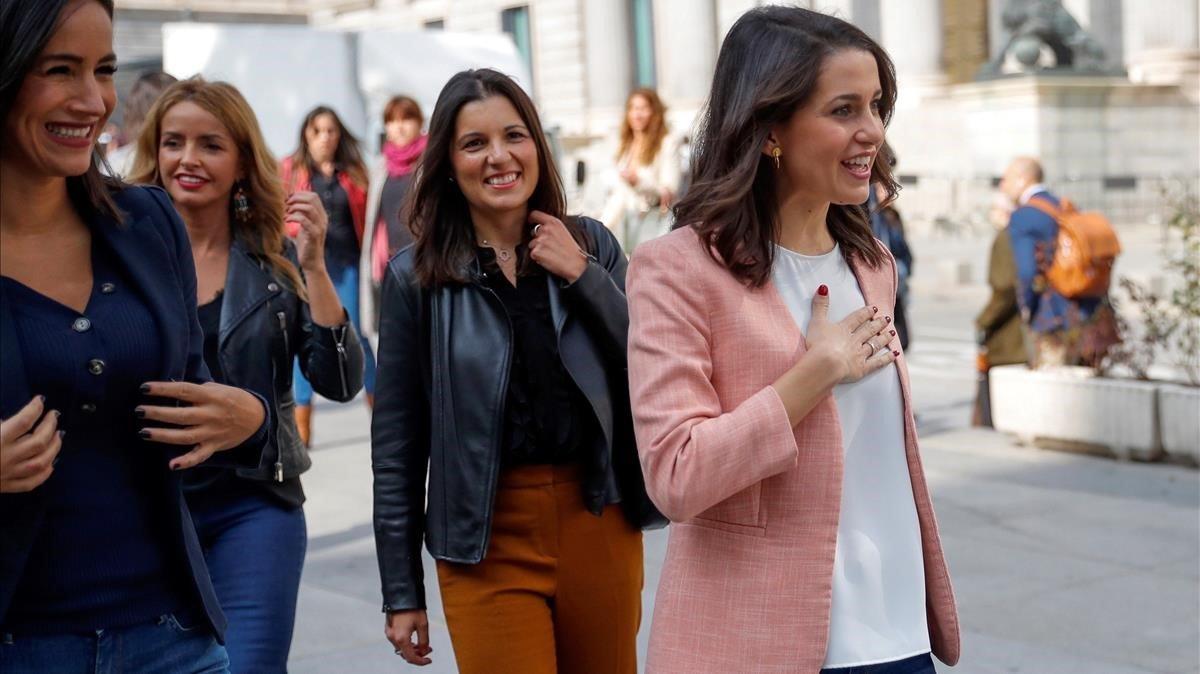 La portavoz de Ciudadanos en el Congreso de los Diputados Inés Arrimadas está embarazada.