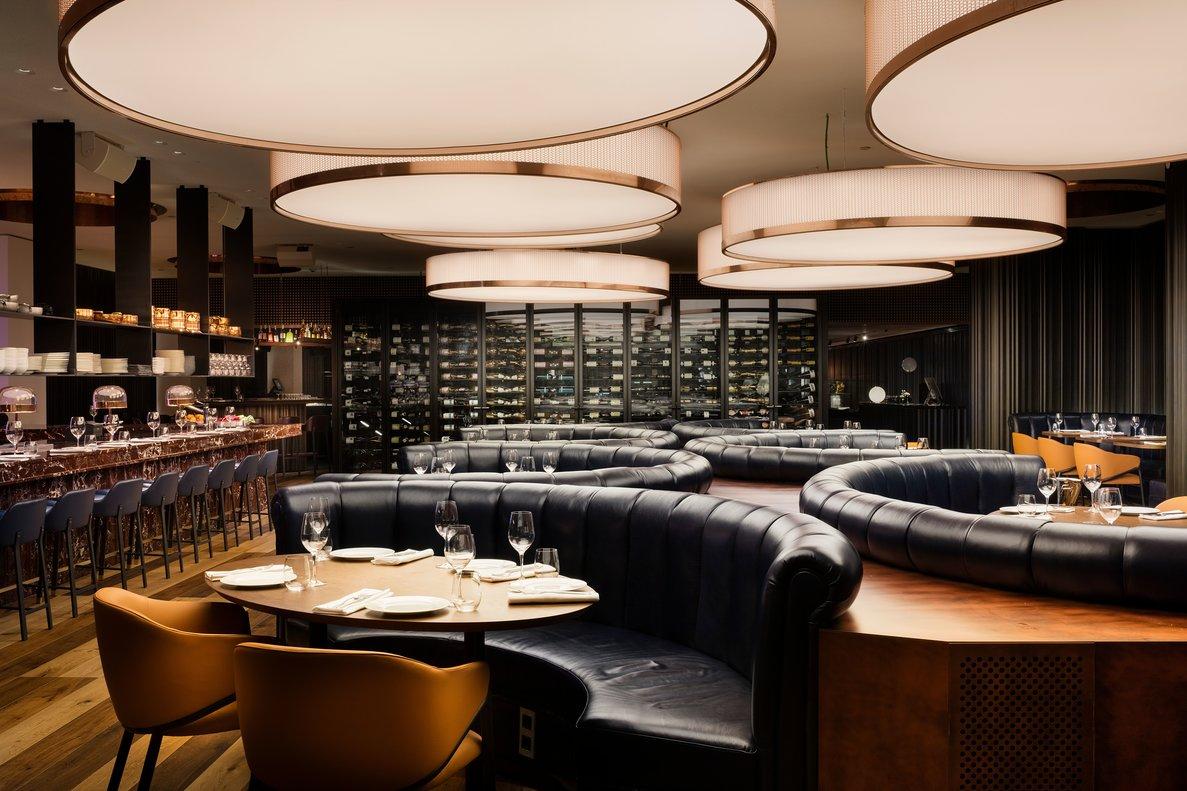 La sala del restaurante Mr Porter, en el 'lobby' del Hotel Sir Victor.