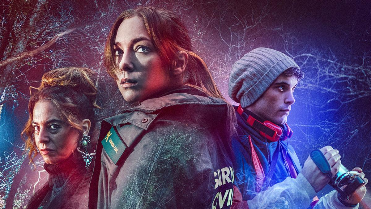 Póster de El punto frío, nueva serie de RTVE, con Lola Baldrich, Natalia Rodríguez y David Solans.