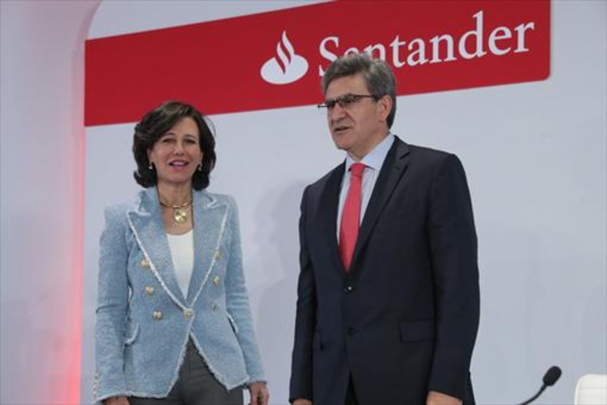 La presidenta del Banco Santander, Ana Botín, y el consejero delegado, José Antonio Álvarez.