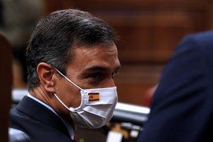 El presidente del Gobierno, Pedro Sánchez, al inicio de la sesión de control al Ejecutivo del pasado 16 de septiembre en el Congreso.