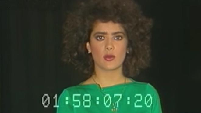 Salma Hayek, irreconocible, en su primer 'casting'