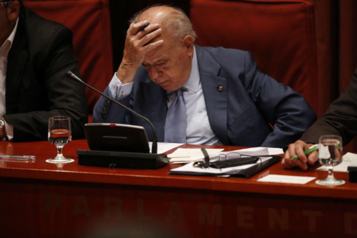 Jordi Pujol comparece en el Parlament.