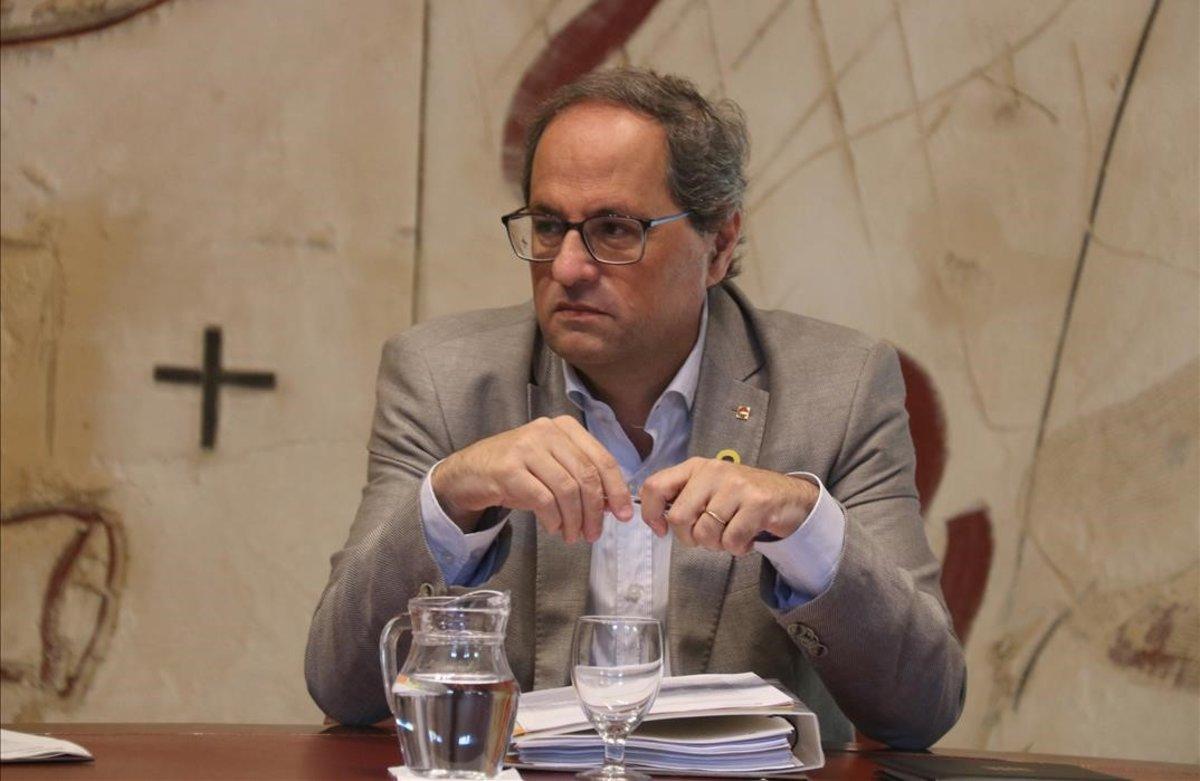Quim Torra, en la reunión del Consell Executiu del 16 de julio del 2019.