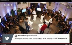 En la red 8 Un momento del debate de los candidatos en Twitter.