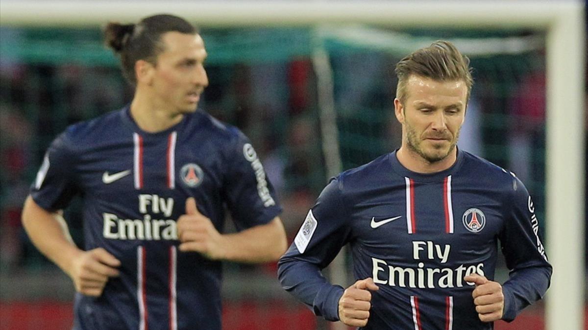 David Beckham le gana apuesta a Zlatan Ibrahimovic