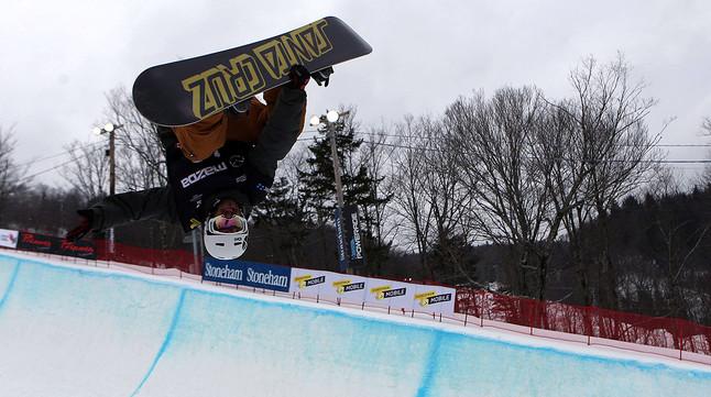 Rubén Vergés, en una competició a Stoneham-et-Tewkesbury (Canadà), al gener.