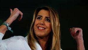 Susana Díaz, en un acto de la campaña.