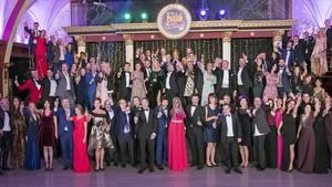 Rostros famosos de RTVE, en la grabación de Telepasión 2017. El Musical.
