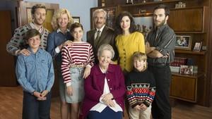 Imagen promocional de los protagonistas de la serie de TVE-1 'Cuéntame cómo pasó'.