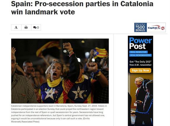 'The Washington Post', sobre las elecciones catalanas