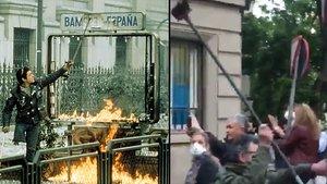 La versió 'pija' del 'Cojo Manteca' se salta el confinament per protestar a Madrid