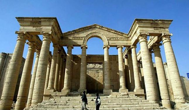 Una de les edificacions de la històrica ciutat de Hatra.