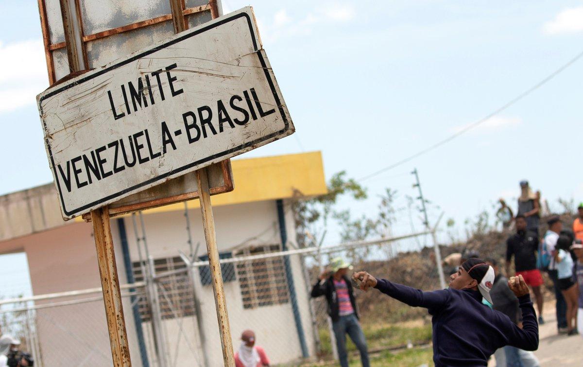 La frontera entre Brasily Venezuela ha sido escenario de disturbios.