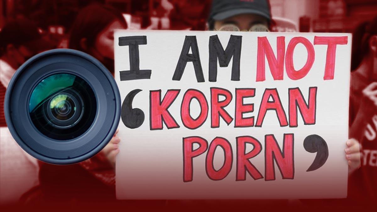 """""""Mi vida no es tu porno"""": Las mujeres surcoreanas protestan contra las cámaras espía en los baños públicos."""