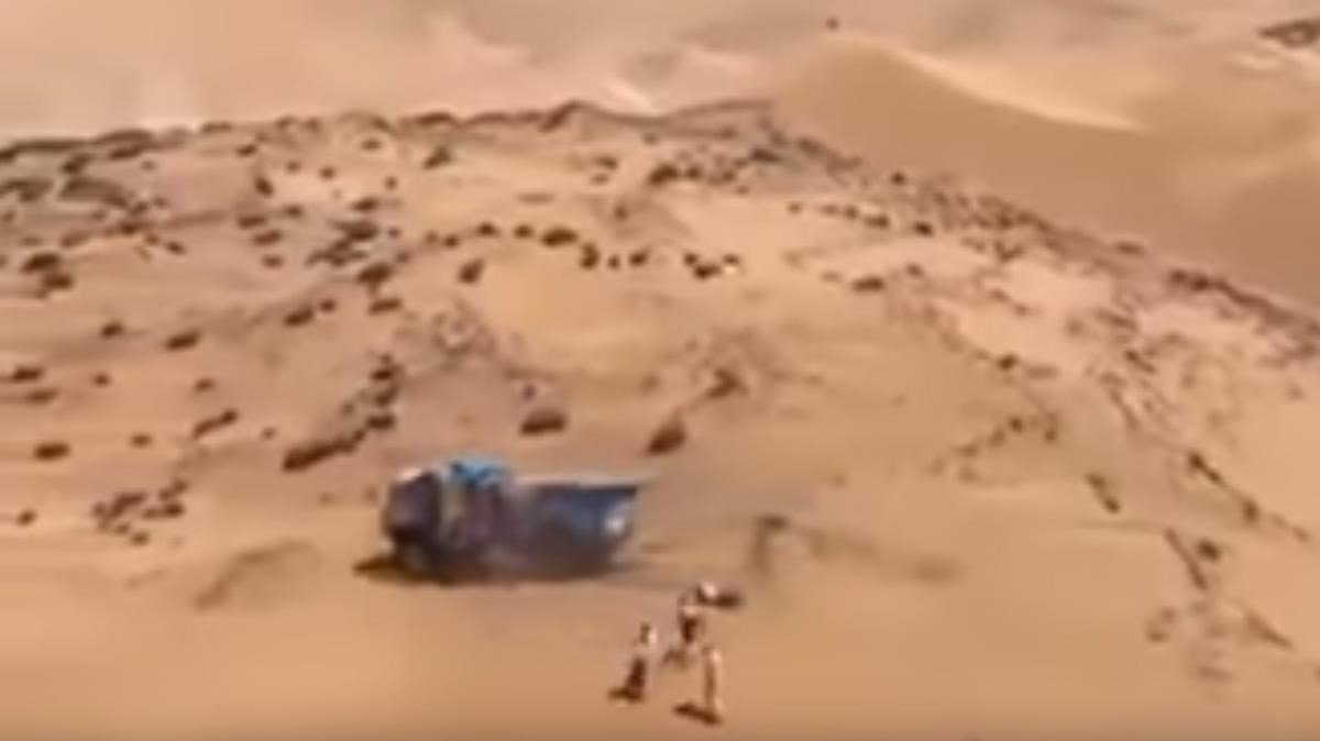 Captura del vídeo del Dakar.