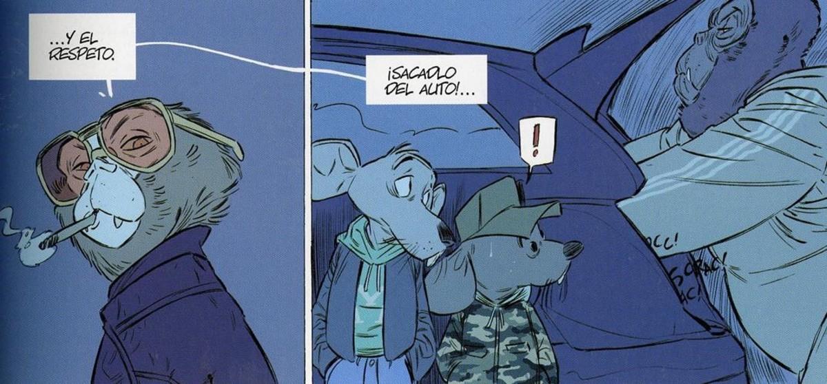 Viñeta de BCN Noire, de la historieta de Josep Maria Polls y Jordi Lafebre.