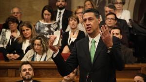Xavier Garcia Albiol en la segunda sesión del debate de investidura en el Parlament.