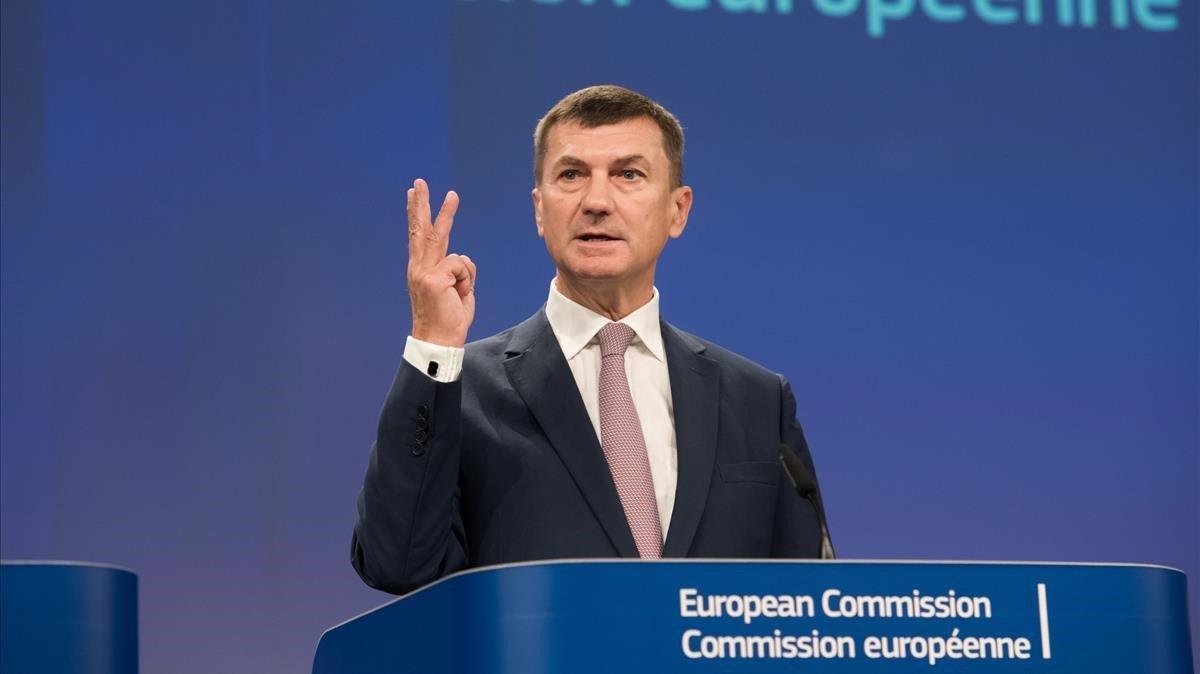 Andrus Ansip, vicepresidente de la Comisión Europea.