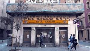 El edificio de la cooperativa Segle XX, en la calle de Ginebra, en el barrio de la Barceloneta.