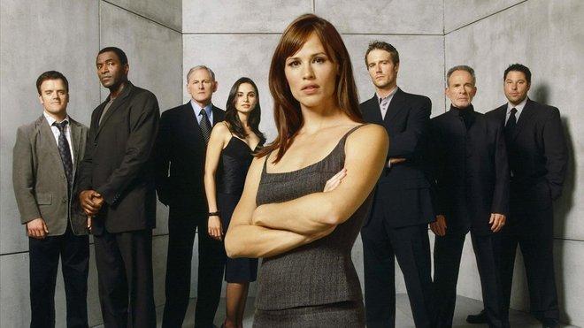Jennifer Garner, en una imagen promocional de la serie Alias.