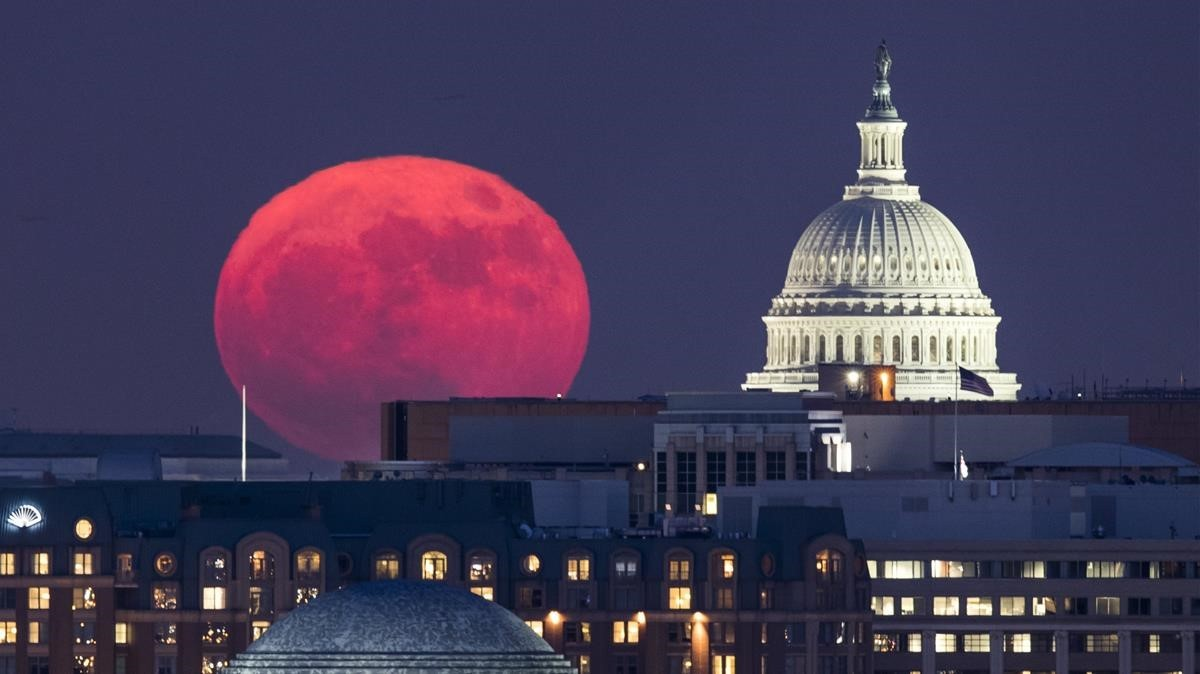Superluna en Washington DC.
