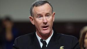 El vicealmirante William McRaven, durante una comparecencia en el Capitolio, en una imagen del 2011.