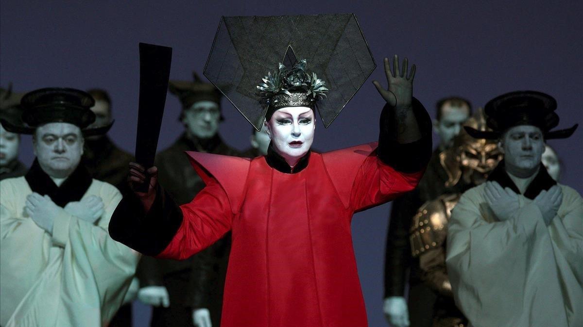 Irene Theorin en el papel de laprincesa Turandot, el viernes en el Teatro Real de Madrid.
