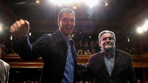 Sánchez acompanya Pepu Hernández: «És l'alcalde que necessita Madrid»
