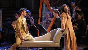 Un momento de la interpretación de 'Semele', de Händel, en el Palau de la Música.