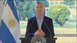 Macri anuncia ajuts econòmics després de la patacada electoral en les primàries