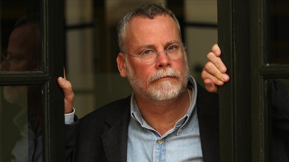 El escritor estadounidense Michael Connelly, durante una visita a Barcelona.