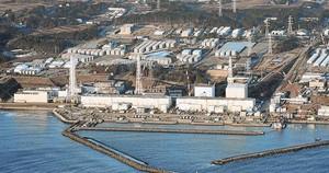 Imatge aèria de <BR/>la central nuclear <BR/>de Fukushima, lagost passat.
