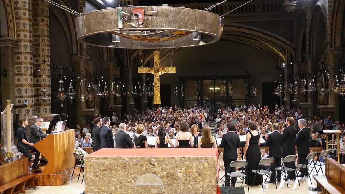 Concierto en la Basílica de Montserrat de Ars Nova y Miquel González