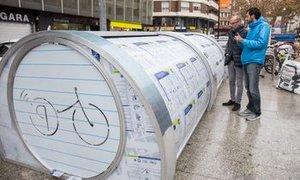 Terrassa instal·la un aparcament tancat per a bicicletes a l'estació de FGC de la Rambla d'Egara