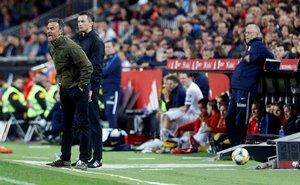 Luis Enrique en un momento del partido ante Noruega.