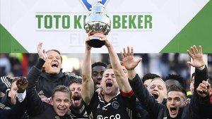 L'Ajax fa el primer pas cap al triplet guanyant la Copa