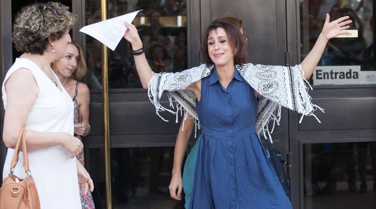 Juana Rivas, ante el Juzgado Provincial de Granada, el pasado día 22.