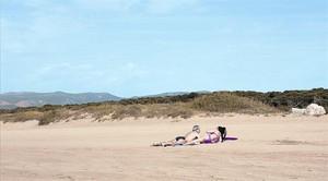 Una playa del litoral catalán.
