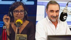 Àngels Barceló (SER) y Carlos Herrera (COPE)