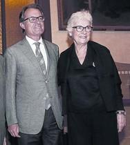 Artur Mas y la presidenta de Òmnium Cultural, Muriel Casals.