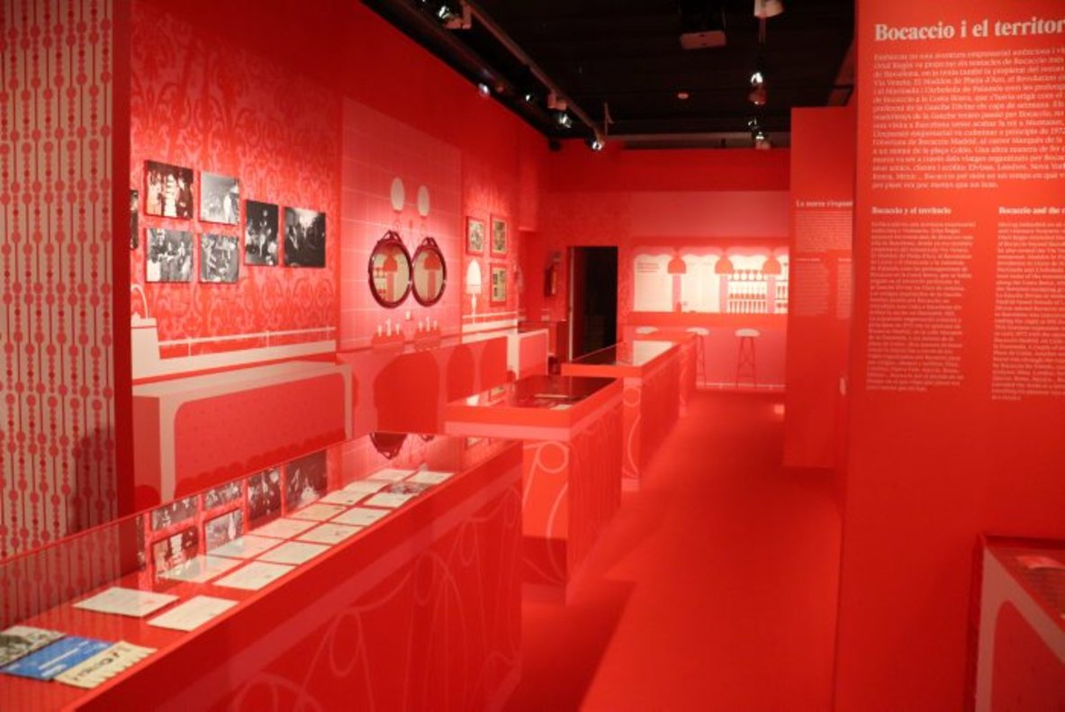 Aspecto general de la exposición dedicada a Bocaccio.