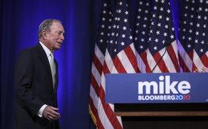 Bloomberg, candidato demócrata a la presidencia de EEUU.