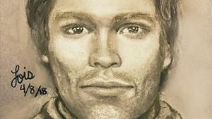 Boceto del hombre que, presuntamente, amenazó a la actiz porno Stormy Daniels para que mantuviera en secreto su relación con Donald Trump.