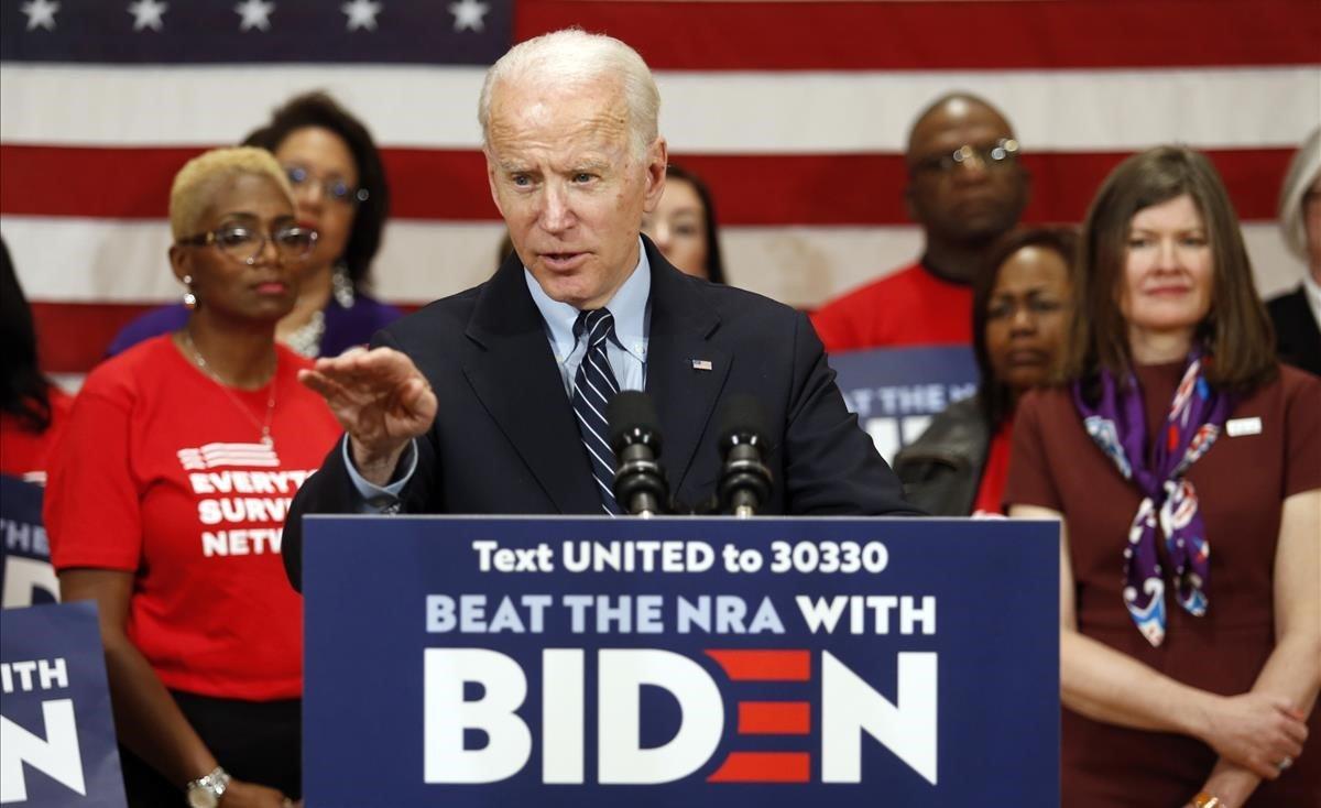 El candidato demócrata a la Casa Blanca, Joe Biden, en un mitin en Ohio, en marzo.