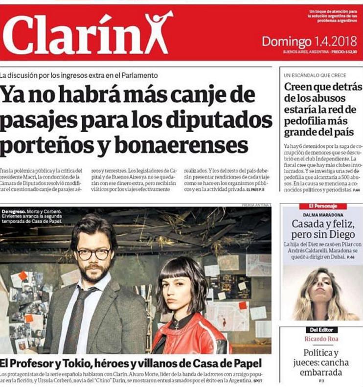 el diario argentino clar n destaca en portada a la casa de